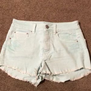 AE mint colored shorts